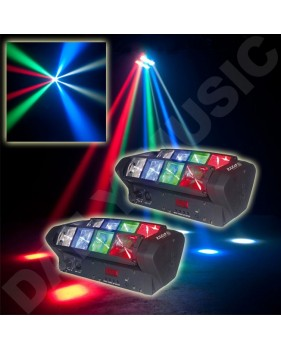 Pack 2 x Ibiza LED8-MINI + Câble dmx